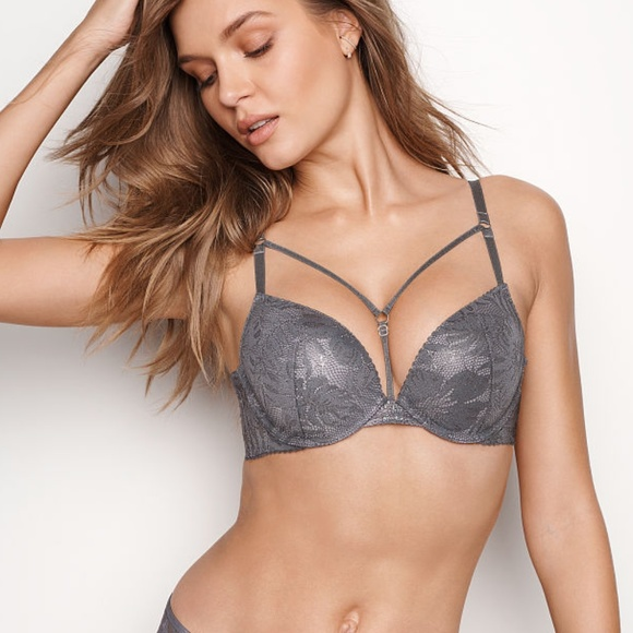 e086db4044d NEW Victoria s Secret VERY SEXY PUSH-UP BRA Grey